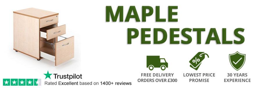 Maple Pedestal Drawers