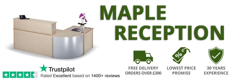 Maple Reception Desks