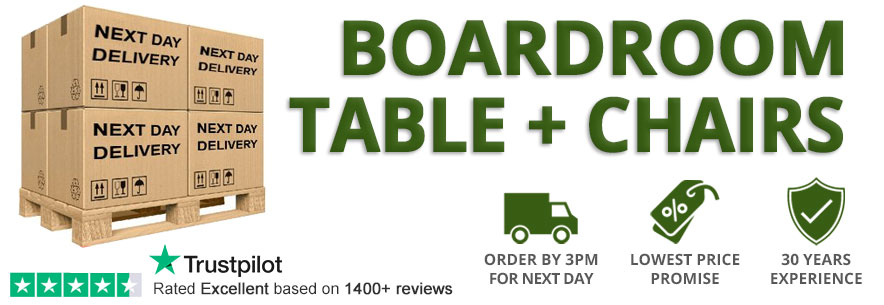 Next Day Delivery Boardroom Table and Chairs