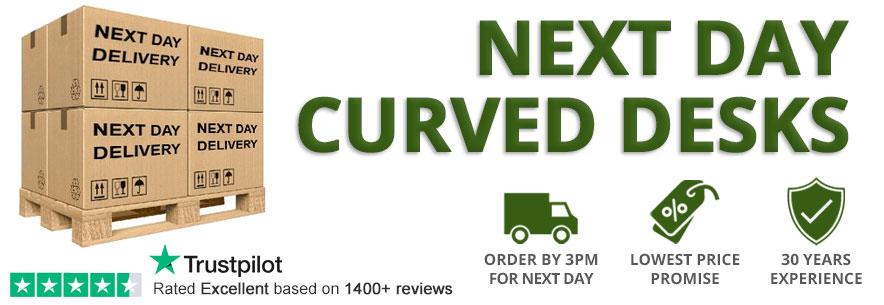 Next Day Delivery Curved Desks