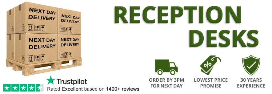Next Day Delivery Reception Desks