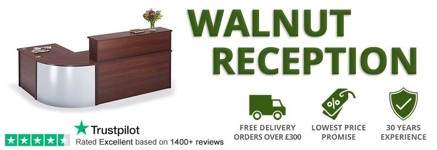 Walnut Reception Desks