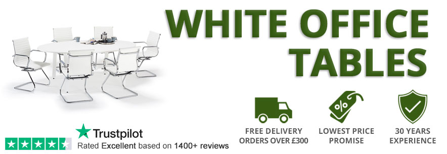 White Office Boardroom Tables