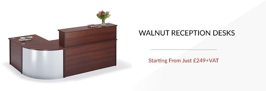 Walnut Reception Desks banner